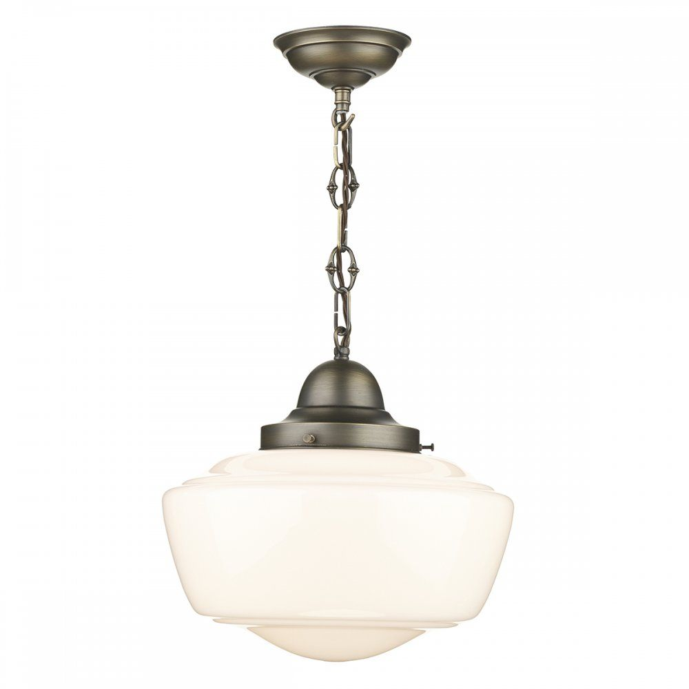 Artisan lighting stowe vintage schoolhouse ceiling pendant with opal artisan lighting stowe vintage schoolhouse ceiling pendant with opal glass shade arubaitofo Gallery