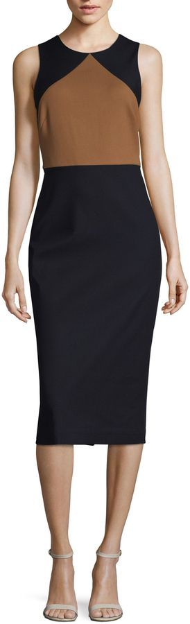 Diane von Furstenberg Women's Sleeveless Tailored Sheath Dress