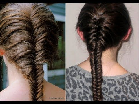 How To French Fishtail Braid Ides Coiffures Etc Pinterest