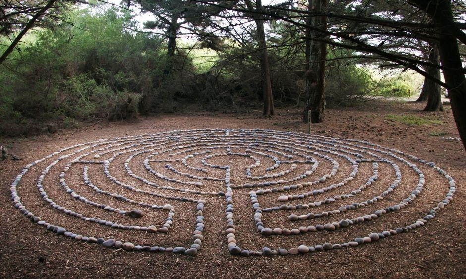 Labyrinth In Nature Google Search My Secret Garden Design Small Gardens