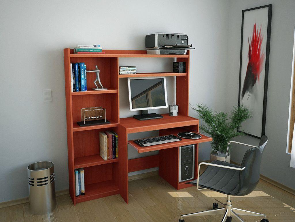 Escritorio Mesa Para Pc Reproex R11813 Con Alzada Y Biblioteca  # Muebles El Foco