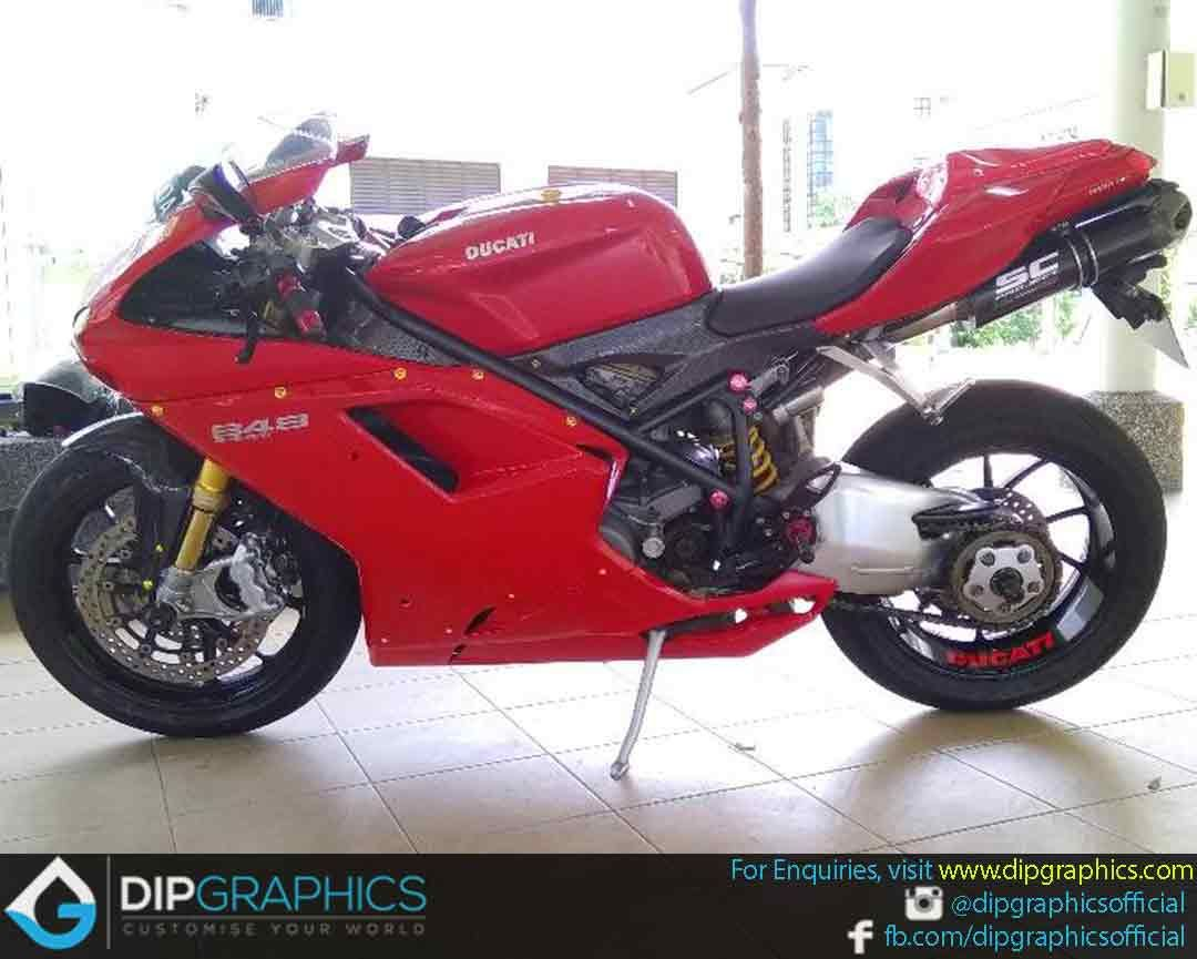 Hydro Dipped Ducati 848 In Carbon Fiber 2 Automotive Hydrographics