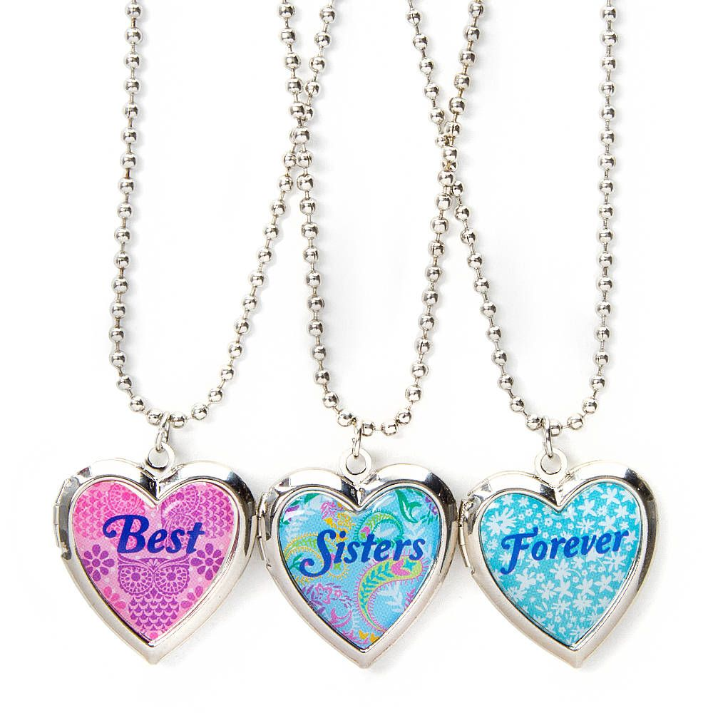Pyouve got the two best sisters anyone could ask for celebrate best sisters forever heart locket pendant necklaces set of 3 mozeypictures Gallery