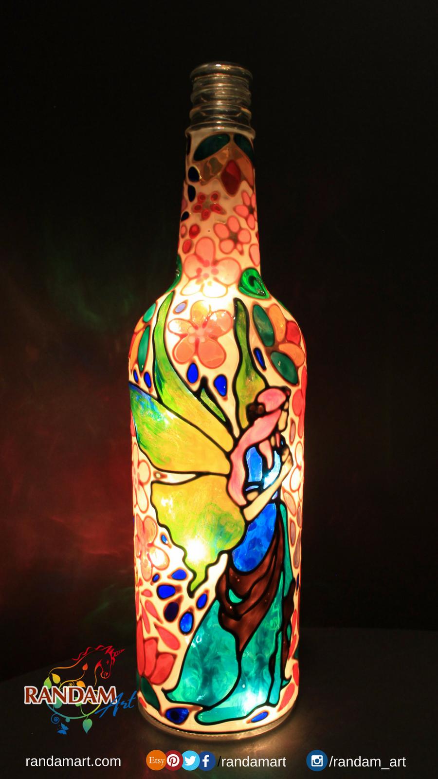 Hand Painted Bottle Light New Design Fairy Bottlelight
