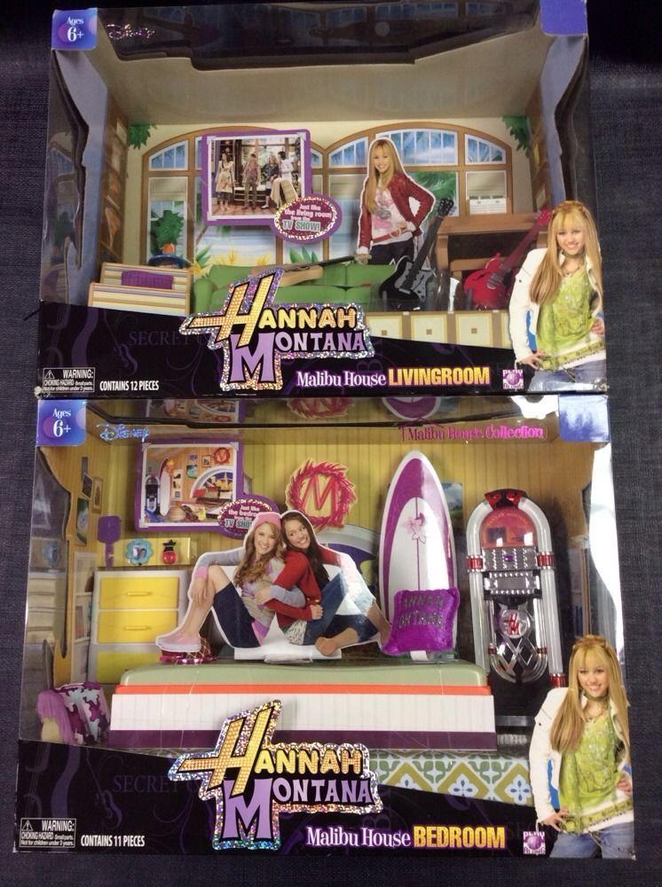 Set Of 2 Disney Hannah Montana Malibu Beach House Living