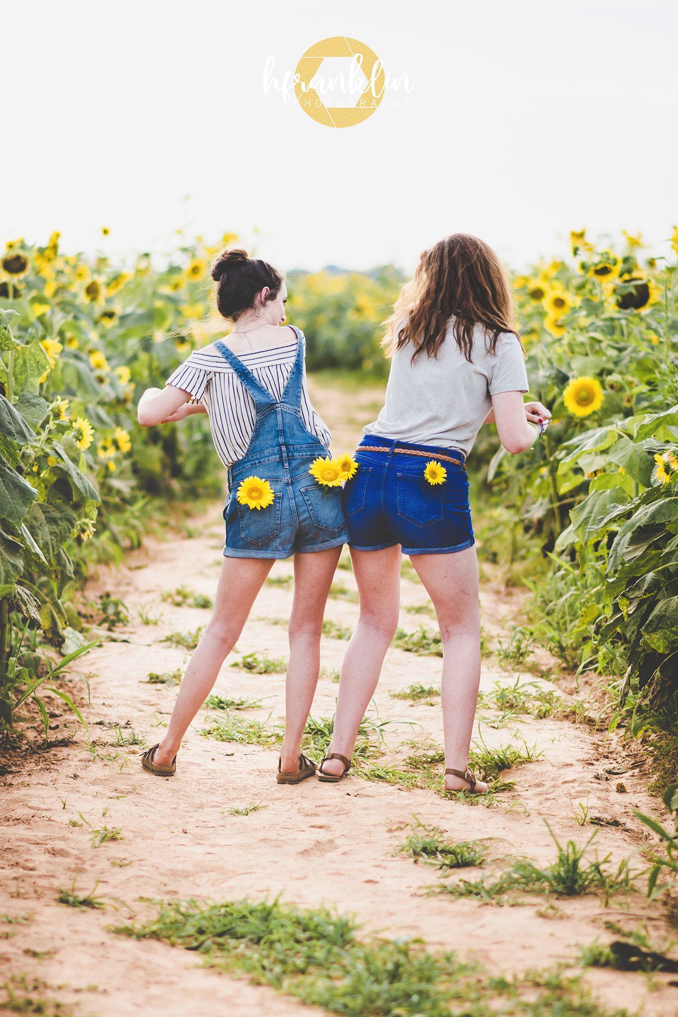 Shreveport Sunflower Portrait Session Friend Photoshoot Cute