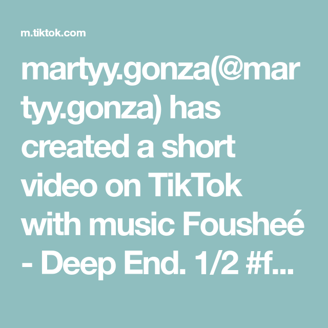 Martyy Gonza Martyy Gonza Has Created A Short Video On Tiktok With Music Foushee Deep End 1 2 Foryou Fyp Manifestation Claim Greenscreen Music Video