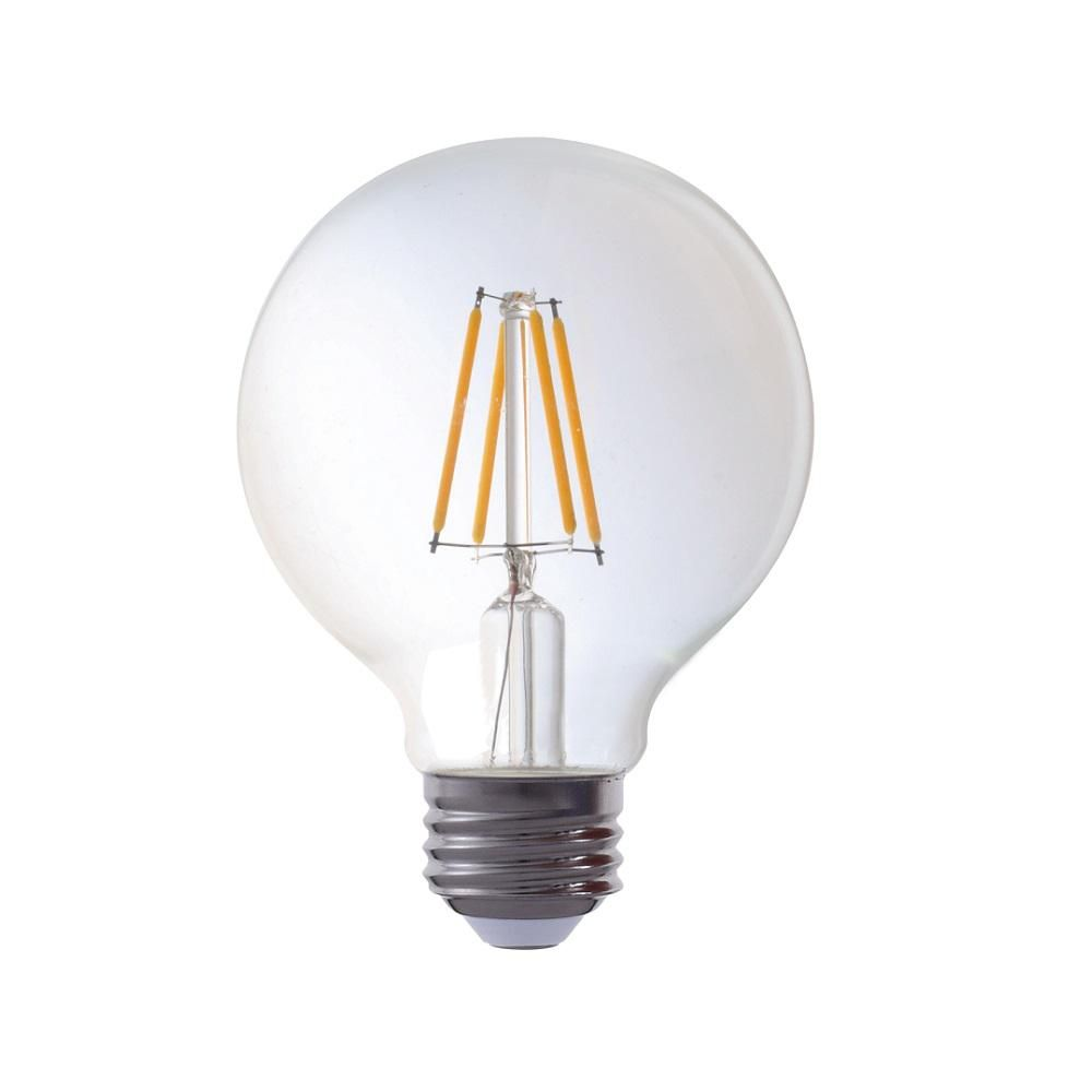 Triglow 40 Watt Equivalent G25 Globe Dimmable Amber Glass Filament