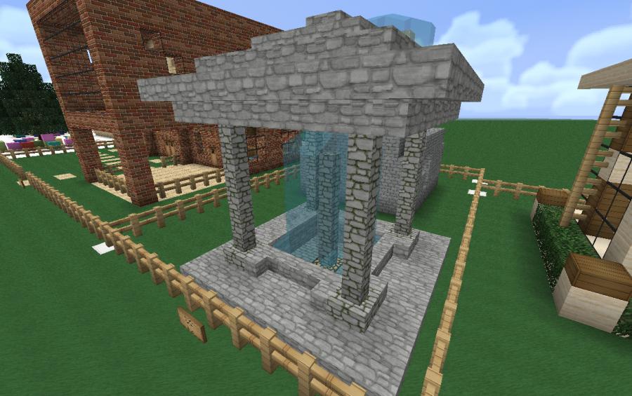 Nice Water Feature For Minecraft Minecraft Garden Minecraft