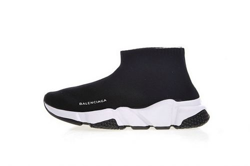 4d6e085a43c0 Balenciaga Speed Stretch Knit Mid Sneaker Noir Blanc Noir Sole 477289W05G0  1000