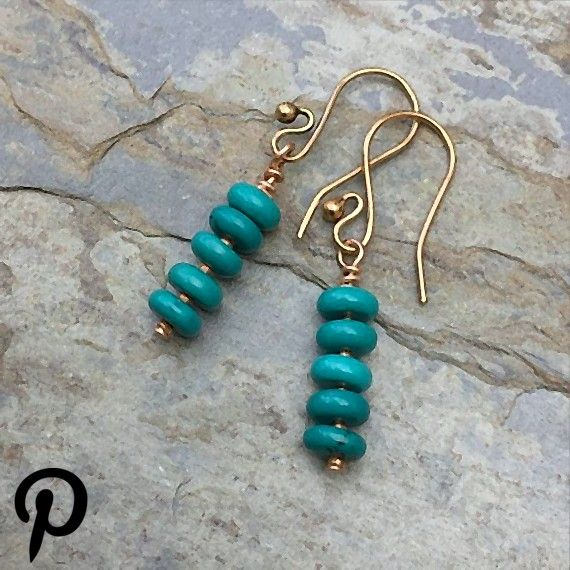 Long Turquoise and Copper Earrings 15 inch Long Turquoise and Copper Earrings 15 inch