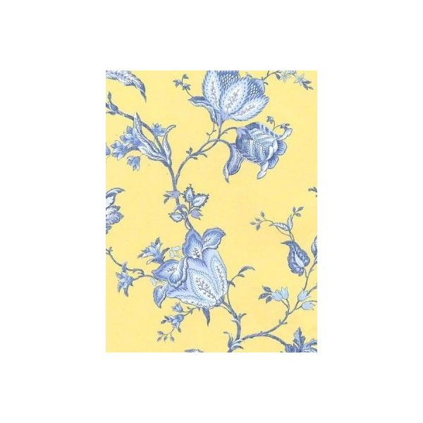 Wallpaper Florals Jacobean Floral French Country Blue And