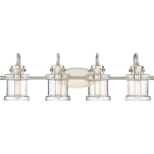Danbury Brushed Nickel Four-Light Bath Vanity | Quoizel ...