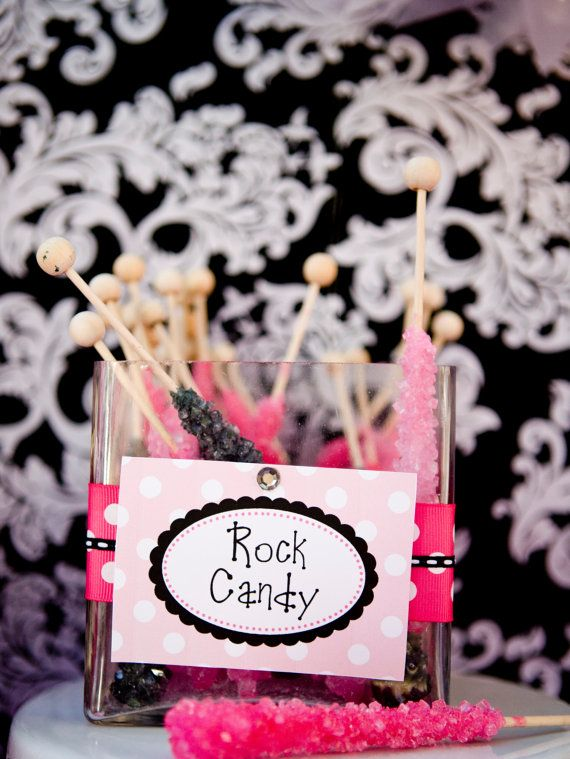 rock star or music birthday food labels place cards by annaandblue rh pinterest com