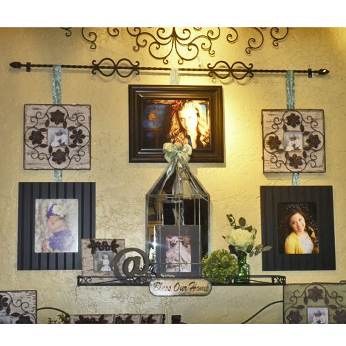 Fine Collage Of Picture Frames On Wall Idea Gallery - Wall Art ...