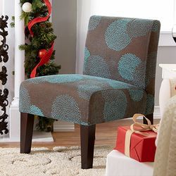 Deco Sunflower Fabric Slipper Chair Furniture Stylish Living Room