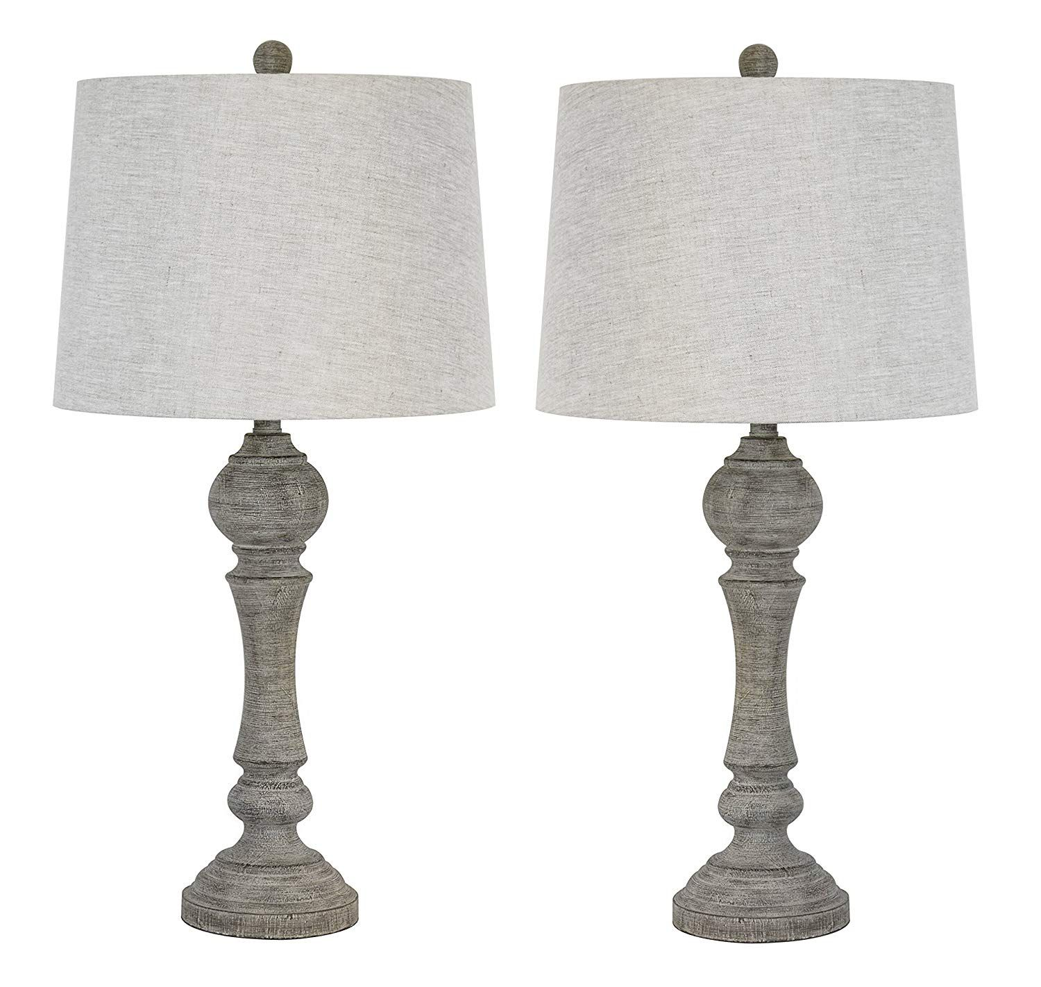 Lamps To Fit Your Farmhouse Classic Or Coastal Style Grandview Gallery 32 Reclaimed Grey Table Lamps W Linen Linen Lamp Shades Grey Table Lamps Table Lamp