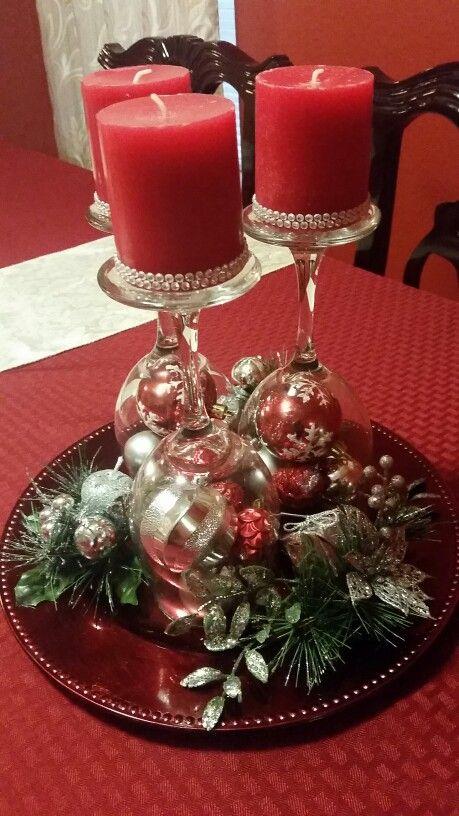 Wine Glass Diy Christmas Centerpiece Christmas Candle Centerpiece Christmas Decor Diy Christmas Centerpieces Diy
