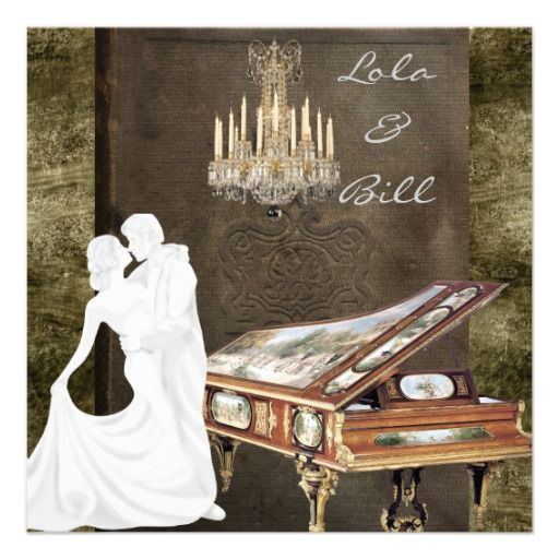 See MoreVintage PIANO Wedding Invitation AntiqueThis site is will advise you where to buy