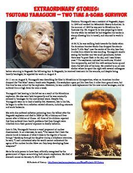 Hiroshima and Nagasaki 2x Atomic Bomb Survivor Worksheet | TpT FREE ...