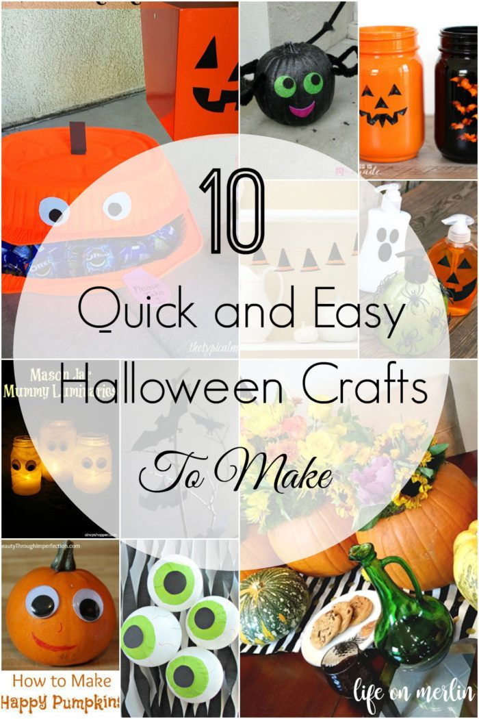 Check out these awesome DIY Halloween projects! 10 DIY Quick and - how to make halloween decorations for kids