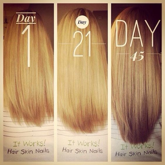 Growth results after using It Works! Hair, Skin Nails vitamin.   It ...