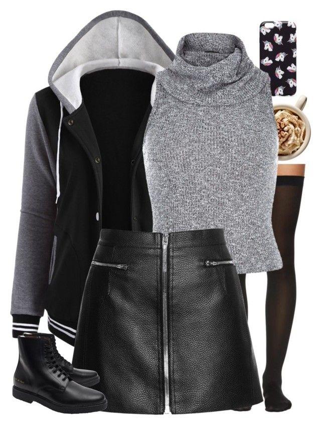 Untitled 695 Hooded jacket, Leather jacket, Polyvore