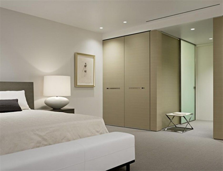 charming simple design with small bedroom featuring gray laminated