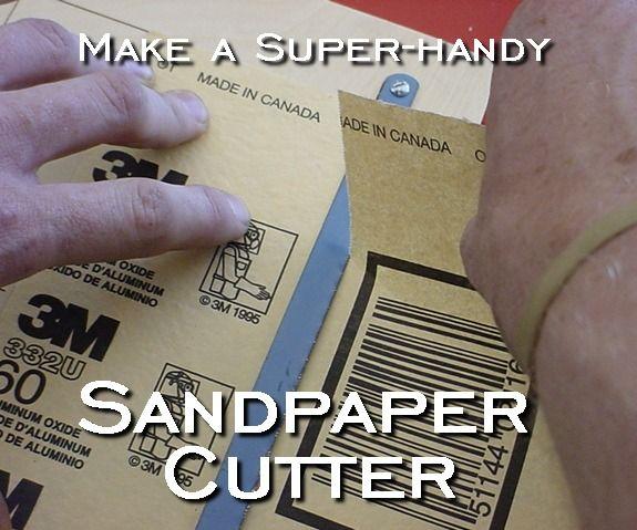 Sandpaper Cutter Sandpaper Finishing Sander How To Make