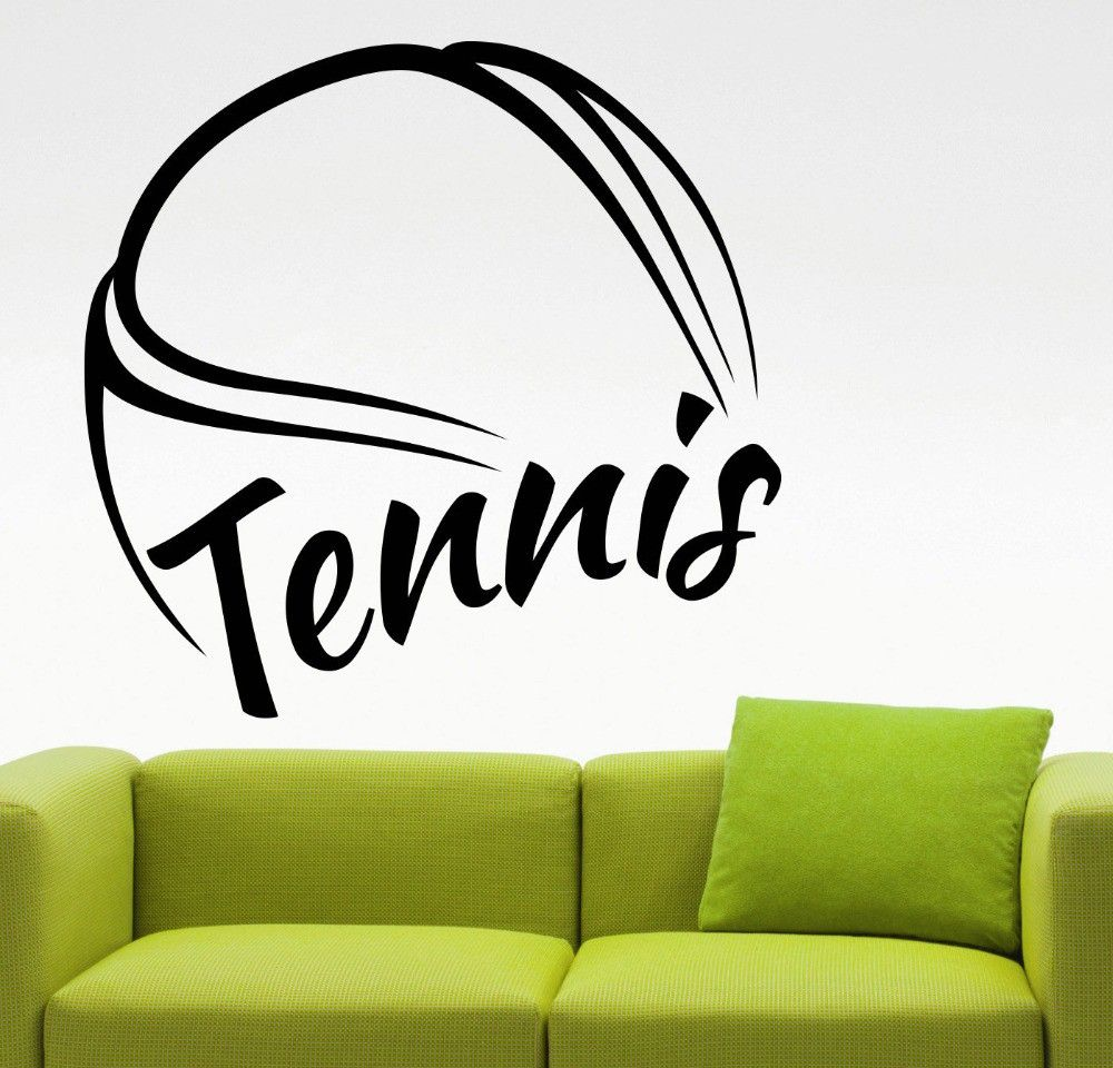 huge tennis pattern wall sticker tennis quotes sport series wall huge tennis pattern wall sticker tennis quotes sport series wall mural home bedroom art cool decor wall decals stickers m 46