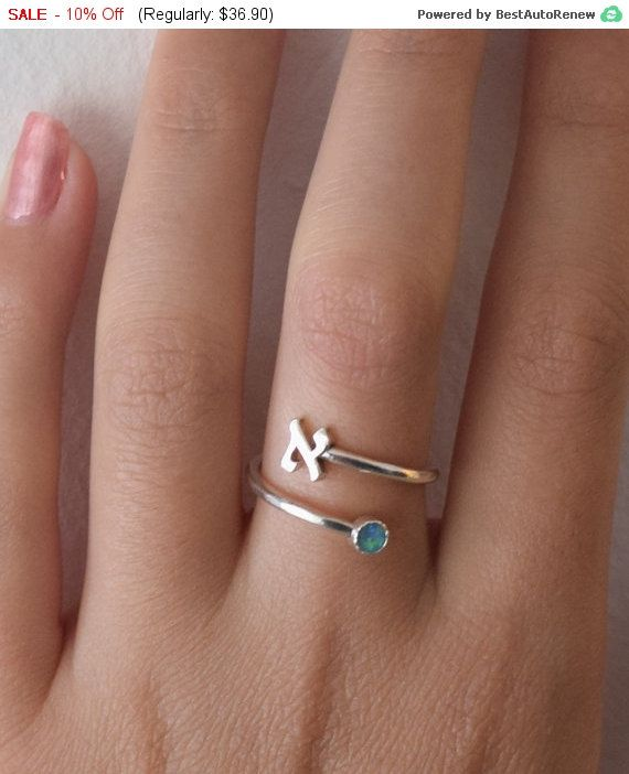 Personalized Name Ring Sterling Silver Any Name Sawing Handmade hebrew letters