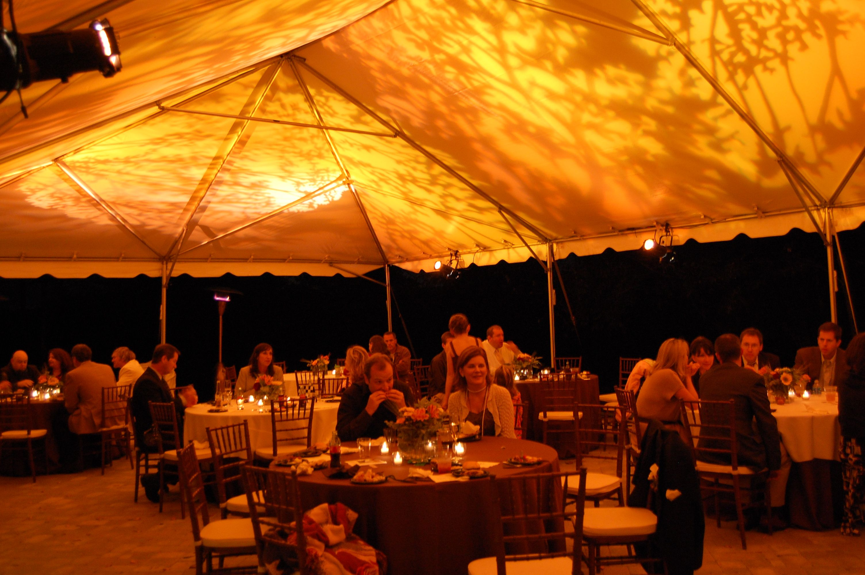 tent gobo lighting