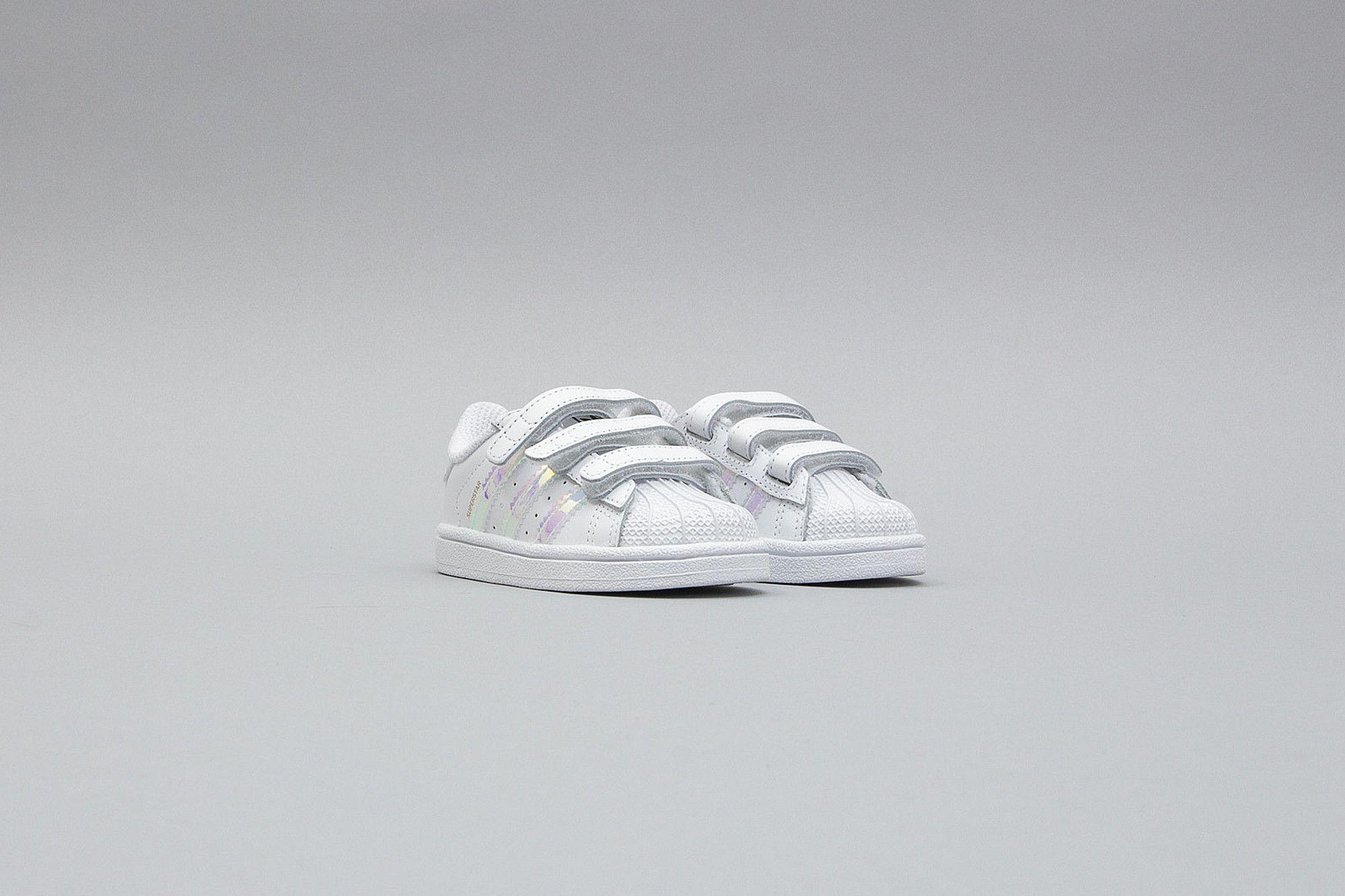 adidas superstar cf white silver baby