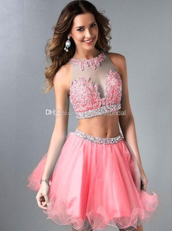 Two Pieces Prom Dresses | Prom dresses | Pinterest