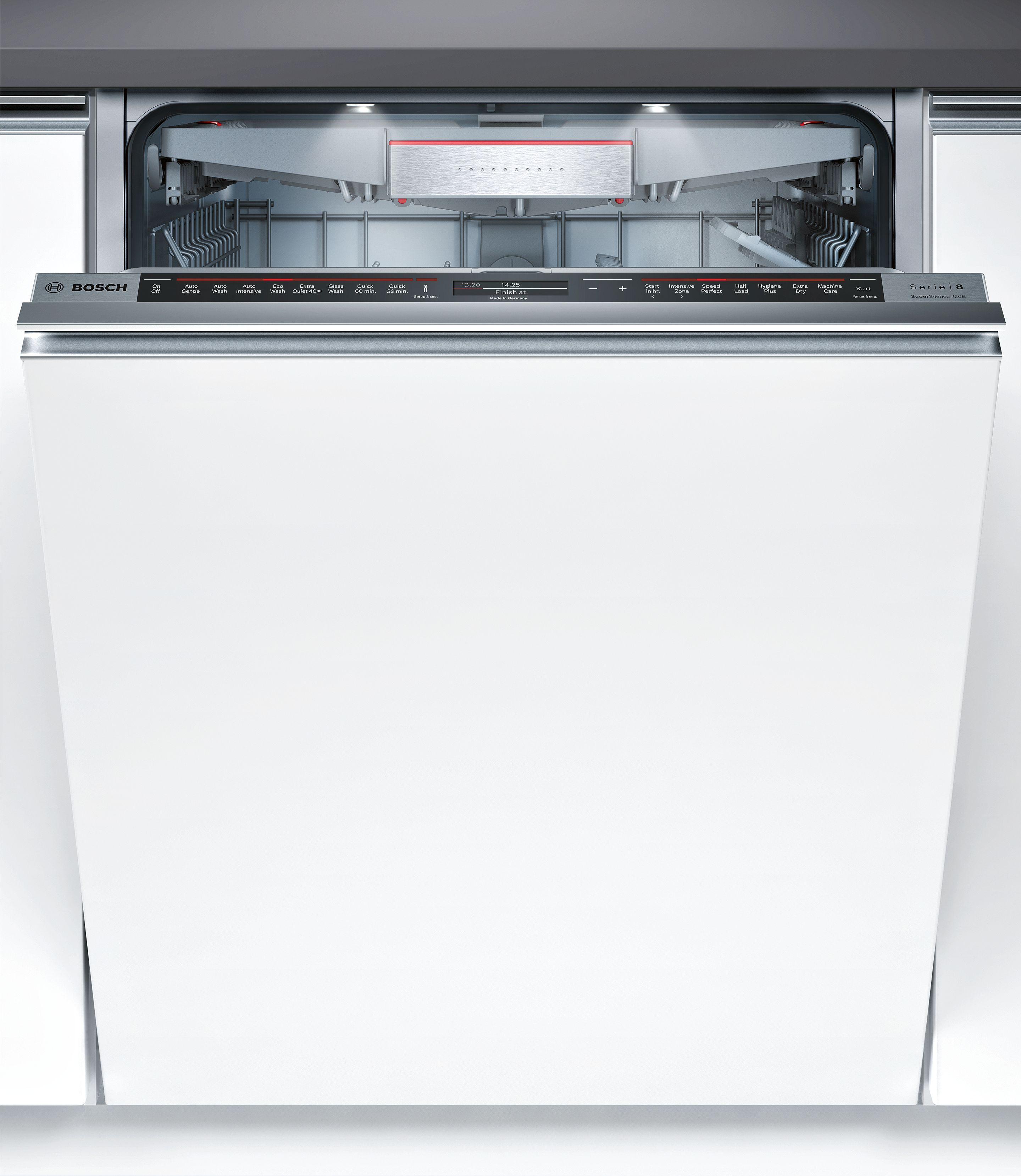 Bosch Serie 8 Fully Integrated Dishwasher 60cm H 815 875mm W 598 Mm D 550 Mm Integrated Dishwasher Fully Integrated Dishwasher Built In Dishwasher