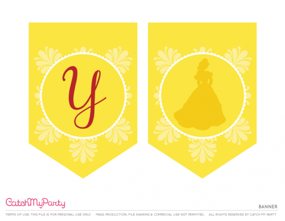 Beauty and The Beast Happy Birthday Banner Happy Birthday Banner Beauty and The Beast Birthday Party