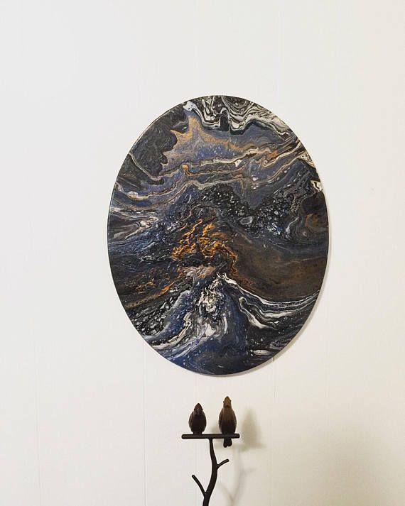 16x20 Abstract Fluid Art 12x12in Abstract Fluid Art. \'Galaxy ...