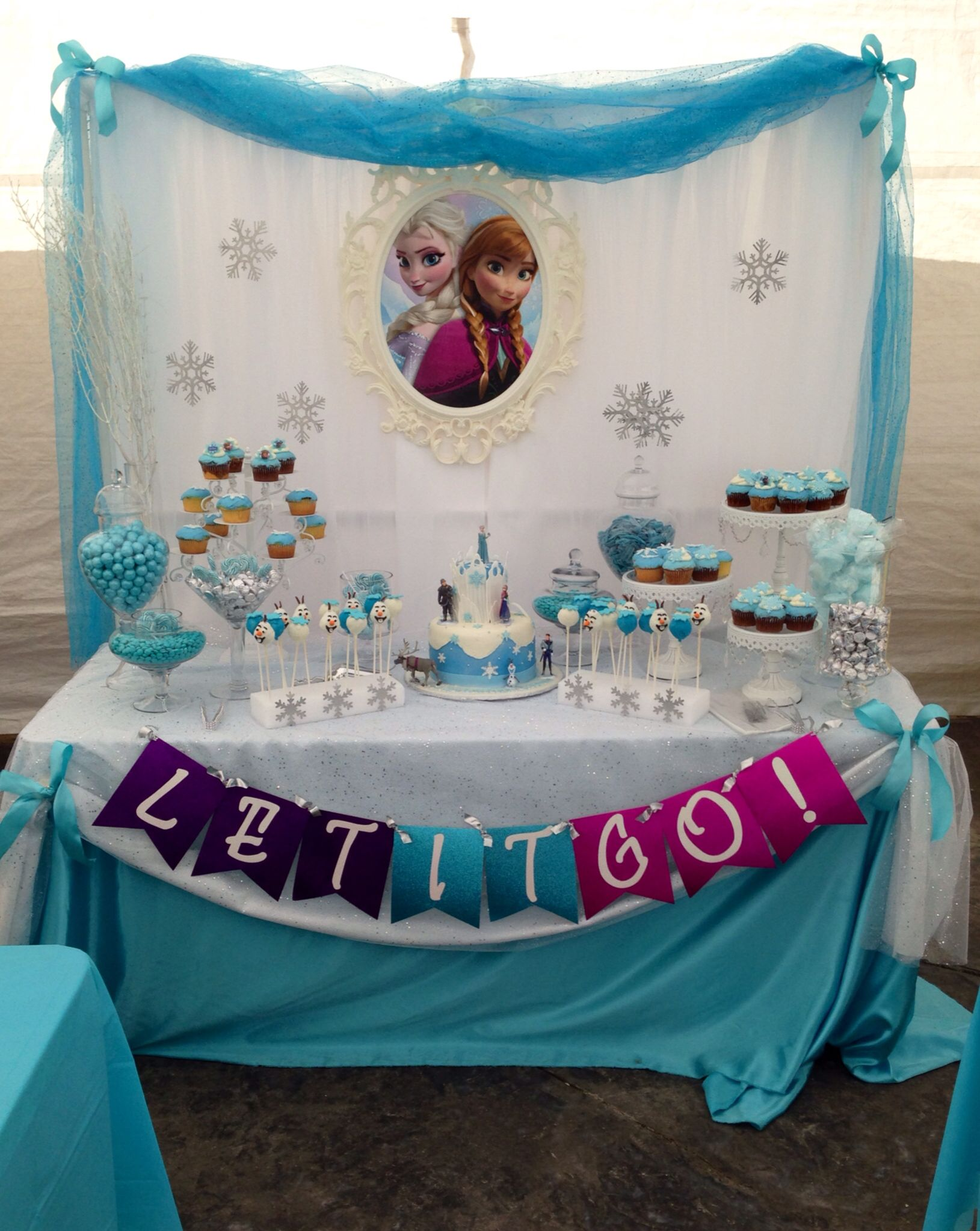Frozen Candy Buffet By Bizzie Bee Creations Frozen Theme Party Disney Frozen Party Frozen Birthday Party