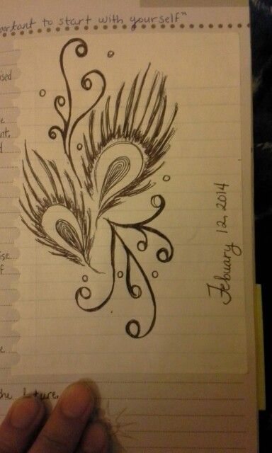 I like to doodle alot :) this is one of my recent and favorite doodles; just a little something for my journal :)