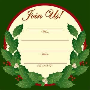 free printable christmas party invites holday crafts pinterest