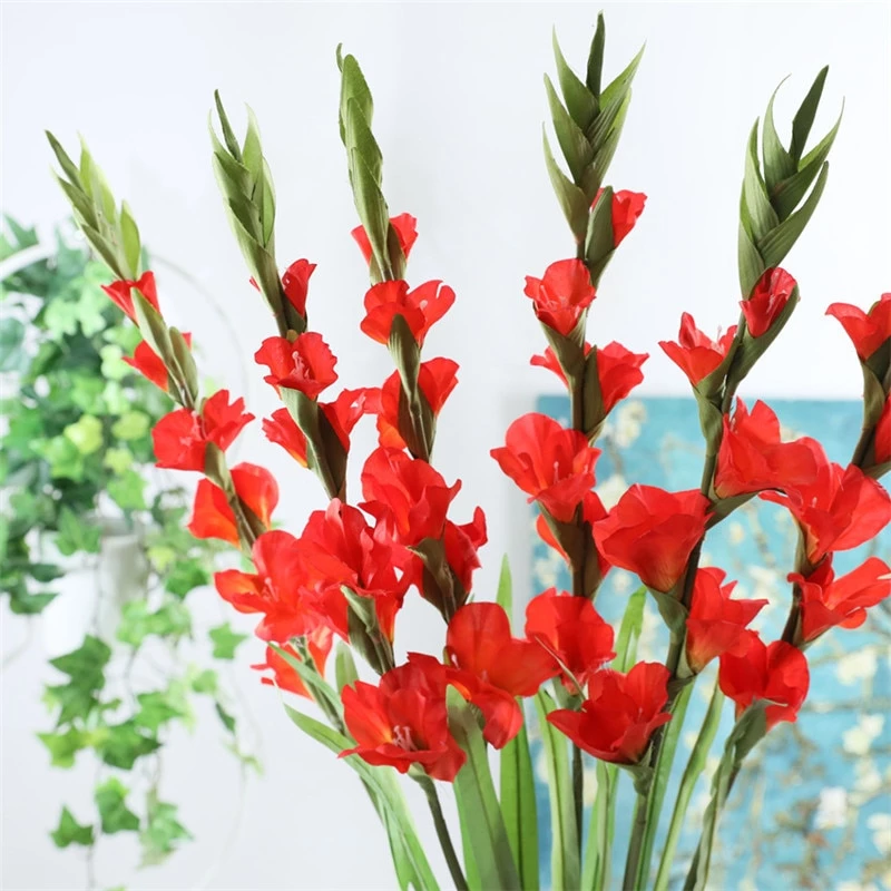 99cm 6 Heads Artificial Gladiolus Decor Home Garden Wedding Flower Arrangement Gladioli Fa Garden Wedding Flowers Arrangements Garden Wedding Flowers Gladiolus