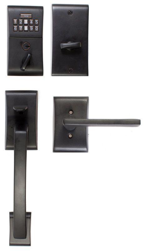 View the Emtek E4817 Single Cylinder Solid Brass Electronic Keypad ...