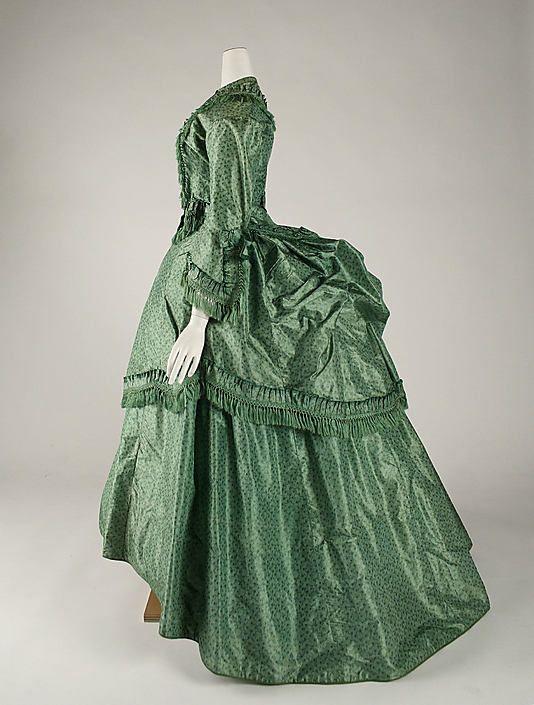 DressDate: ca. 1870 Culture: British Medium: silk