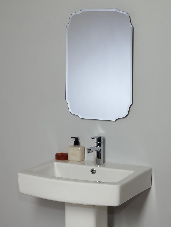 Gagitech  With Shelf Bathroom Mirror Wall Hanging