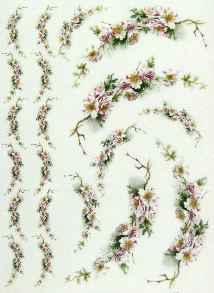 Rice paper for decoupage decopatch scrapbook craft sheet flower rice paper for decoupage scrapbook sheet craft paper flower garlands mightylinksfo