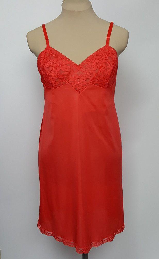 Vintage Vanity Fair Full Red Slip
