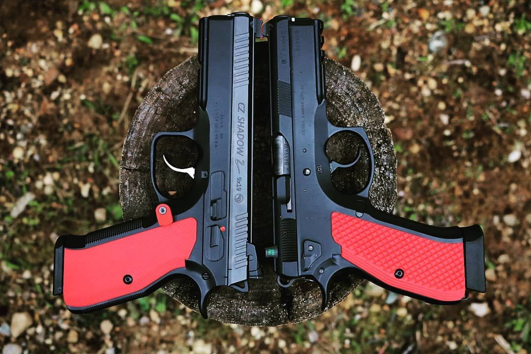 🍒 Check out our new Solid Cherry Red G10 on the CZ Shadow 2