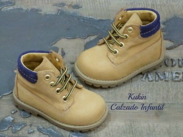 Botín tipo panama azul botas niño - calzado infantil botas niño online