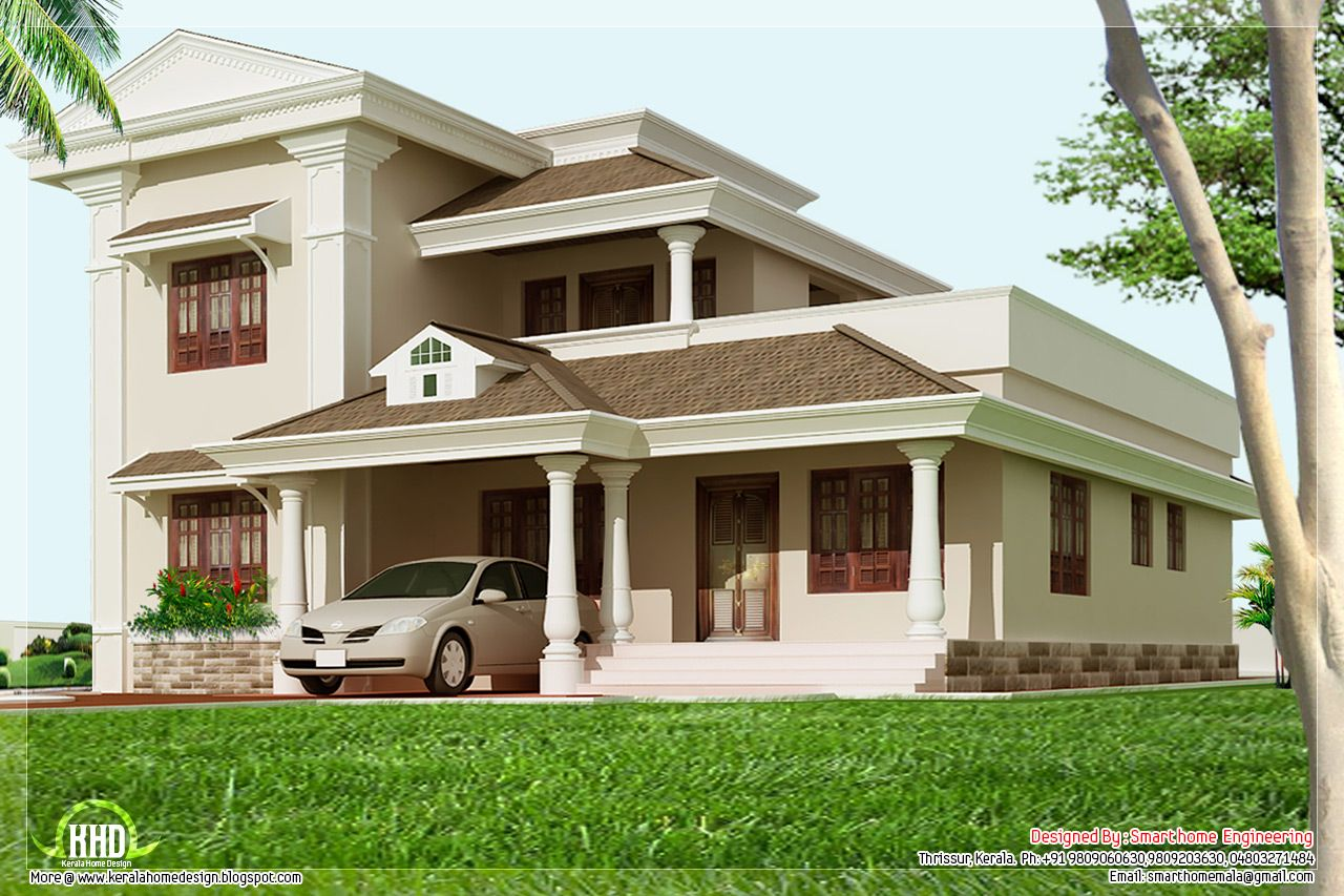 Architecture Design Kerala Beautiful House Elevation At Sqft