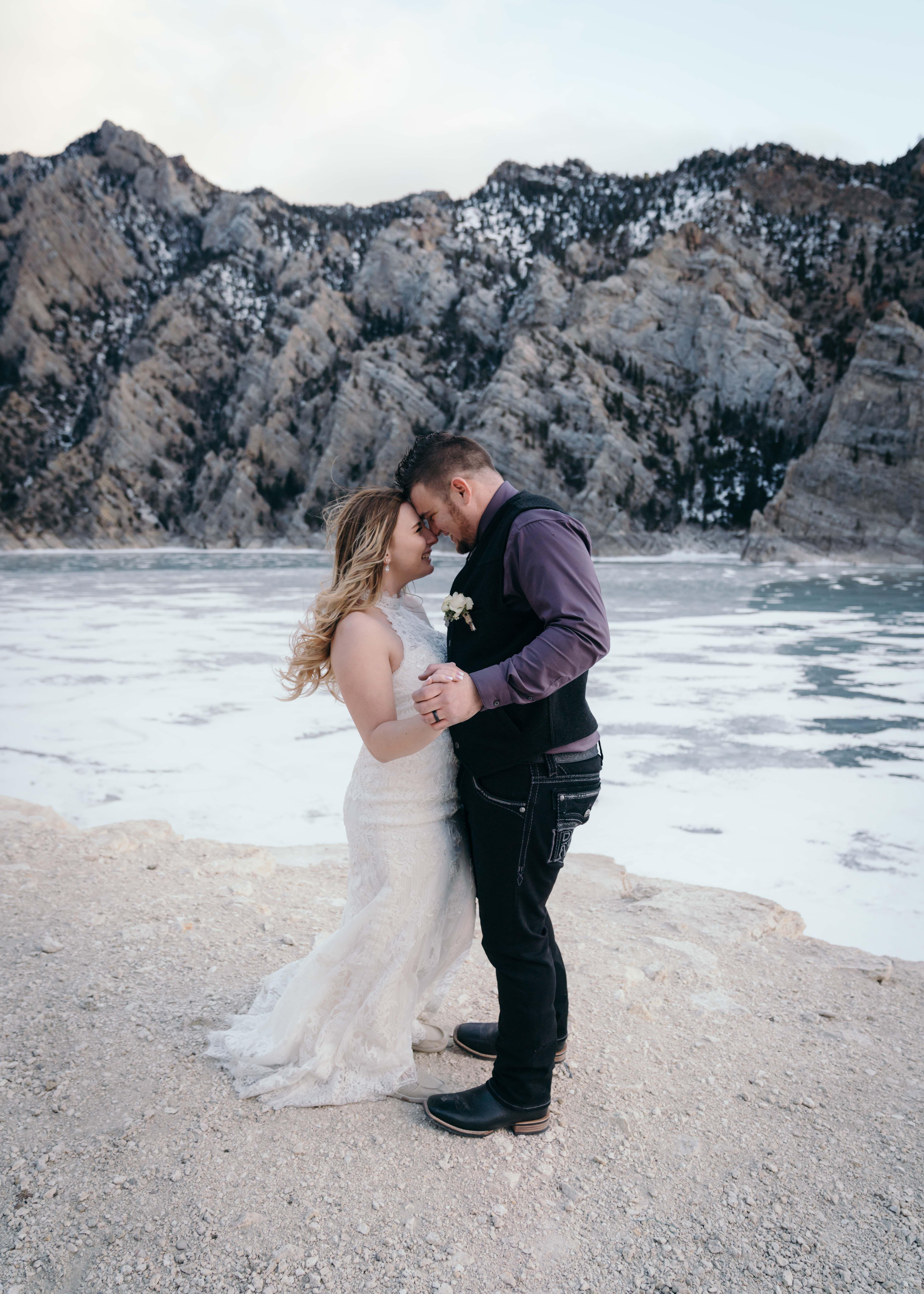 Buffalo Bill Reservoir Backdrop For This Winter Wedding In Cody Wyoming West Yellowstone Grand Teton National Park Teton National Park